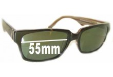 Sunglass Fix Sunglass Replacement Lenses for Joseph Marc 4035 - 55mm Wide