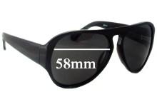 Sunglass Fix Sunglass Replacement Lenses for Linda Farrow Dries Van Notes DVN/26/6 - 58mm Wide
