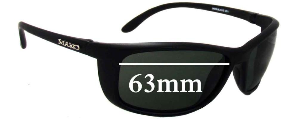 74652c4102 Mako Blade 9569 Sunglass Replacement Lenses - 63mm Wide