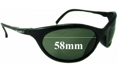 Sunglass Fix Sunglass Replacement Lenses for Mako Warrior 9332 - 58mm wide