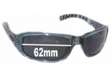 Sunglass Fix Sunglass Replacement Lenses for Mambo Top Dog - 62mm Wide