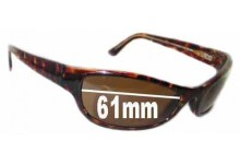 Sunglass Fix Sunglass Replacement Lenses for Maui Jim MJ127 Ono - 61mm Wide