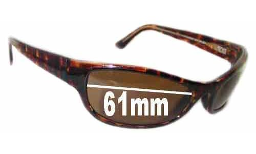 Sunglass Fix Sunglass Replacement Lenses for Maui Jim MJ127 - 61mm Wide