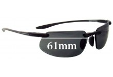 Sunglass Fix Sunglass Replacement Lenses for Maui Jim MJ909 -Kanaha (MJ409 Prescription Frames) - 61mm Wide - Must or Custom Made and Installed Lenses as we have to install these lenses in Lab