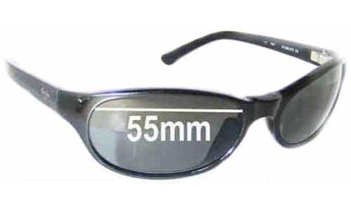 Sunglass Fix Sunglass Replacement Lenses for Maui Jim MJ136 Cyclone - 55mm Wide