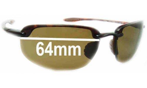 Sunglass Fix Sunglass Replacement Lenses for Maui Jim Ho'okipa MJ407 - 64mm Wide