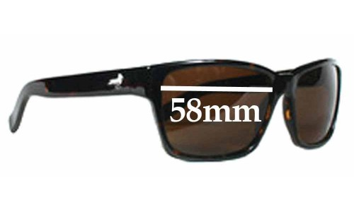 Sunglass Fix Sunglass Replacement Lenses for Modern Amusement 30's - 58mm Wide