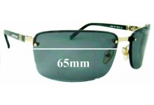 Sunglass Fix Sunglass Replacement Lenses for Montblanc MB 33S - 65mm Wide