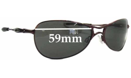 Sunglass Fix Sunglass Replacement Lenses for Oakley Crosshair S Womens - 59mm wide
