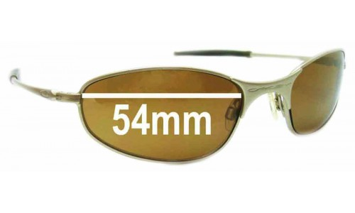 Sunglass Fix Sunglass Replacement Lenses for Oakley A-Wire 2.0 - 54mm Wide