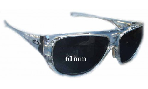Sunglass Fix Sunglass Replacement Lenses for Oakley Correspondent - 61mm Wide