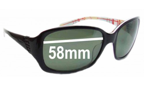 Sunglass Fix Sunglass Replacement Lenses for Oakley Discreet OO2012 - 58mm Wide