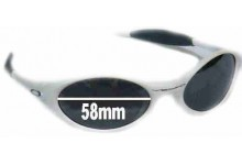 Sunglass Fix Sunglass Replacement Lenses for Oakley Eye Jacket - 58 mm Wide