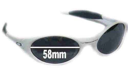 Sunglass Fix Sunglass Replacement Lenses for Oakley Eye Jacket - 58 mm wide