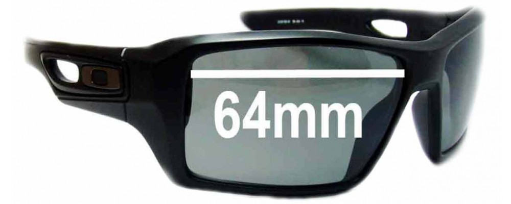 af8673ceff Sunglass Fix Sunglass Replacement Lenses for Oakley Eye Patch 2 - 64mm Wide