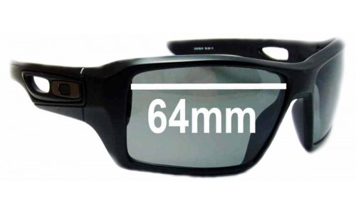 Sunglass Fix Sunglass Replacement Lenses for Oakley Eye Patch 2 - 64mm Wide