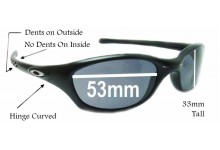 Sunglass Fix Sunglass Replacement Lenses for Oakley Fives 2.0 - 53mm Wide x 33mm Tall