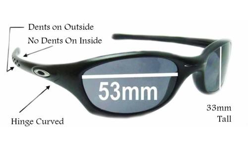 Sunglass Fix Sunglass Replacement Lenses for Oakley Fives 2.0 - 53MM across top 40MM across bot 33MM tall