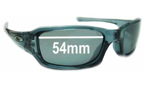 Sunglass Fix Sunglass Replacement Lenses for Oakley Fives 3.0 54MM across top-47 across bot-34 high
