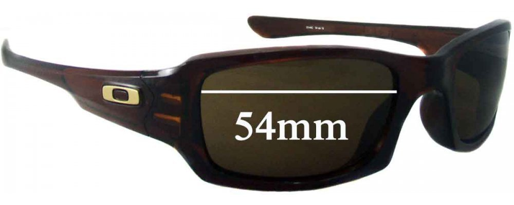 c90b2b1fef Sunglass Fix Sunglass Replacement Lenses for Oakley (4 + 1) Squared - 53- 54mm Wide