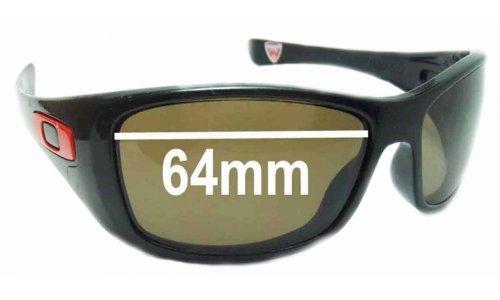 Sunglass Fix Sunglass Replacement Lenses for Oakley Hijinx Ducati - 64mm wide