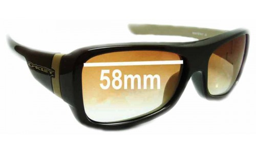 Sunglass Fix Sunglass Replacement Lenses for Oakley Montefrio - 58mm wide