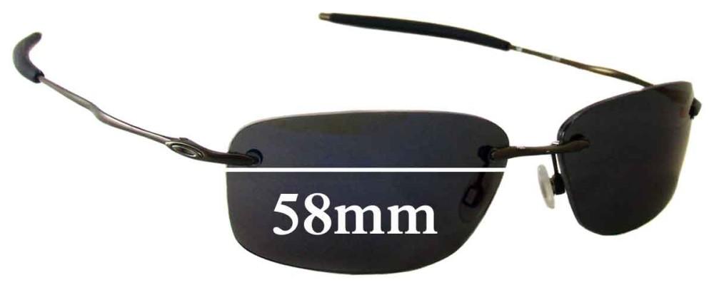 Sunglass Fix Sunglass Replacement Lenses for Oakley Nanowire 2.0 - 58mm Wide