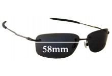 Sunglass Fix Sunglass Replacement Lenses for Oakley Nanowire 2.0 - 58mm Wide