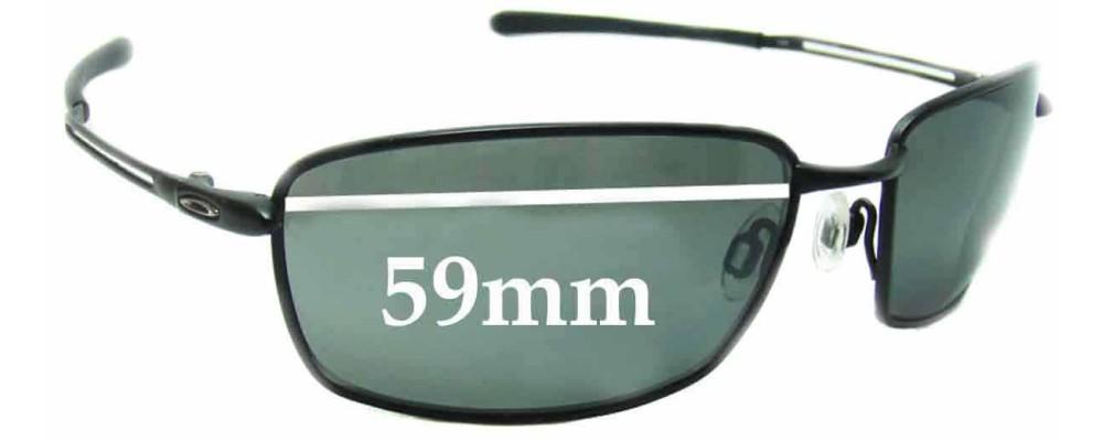 922cc9589e Oakley Nano Wire 4.0 Sunglass Replacement Lenses - 59mm wide ...