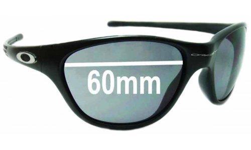Sunglass Fix Sunglass Replacement Lenses for Oakley New Frogskins 1996-2004 - 60mm Wide