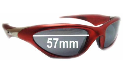 Sunglass Fix Sunglass Replacement Lenses for Oakley Scar - 57mm Wide