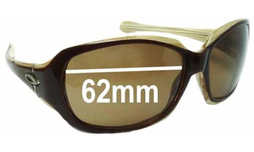 Sunglass Fix Sunglass Replacement Lenses for Oakley Script Asian Fit 62mm wide