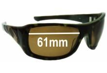 Sunglass Fix Sunglass Replacement Lenses for Oakley Sideways - 61mm Wide