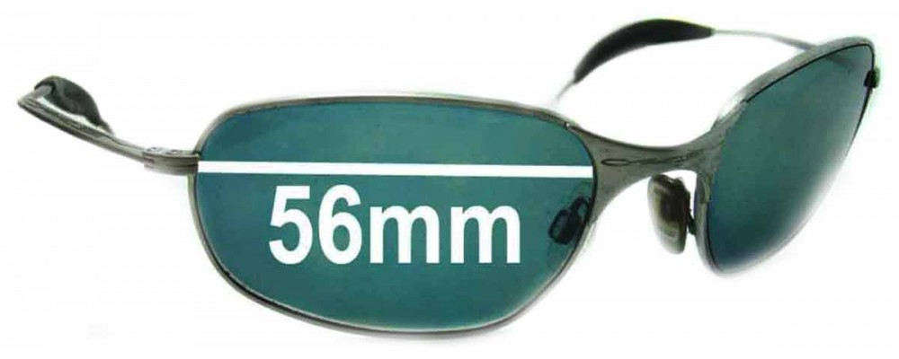 Sunglass Fix Sunglass Replacement Lenses for Oakley Square Wire - Version 1.0 or Originals - 56mm Wide