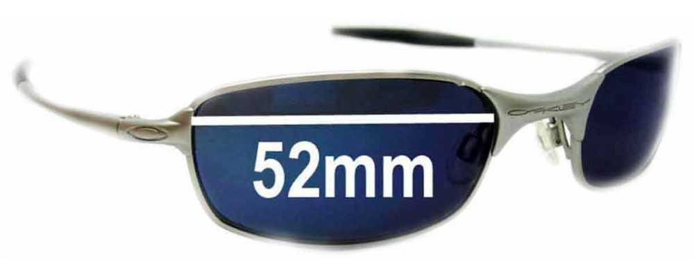 9ae8177d0d Oakley Square Wire 2.0 Sunglass Replacement Lenses - 52mm Wide ...