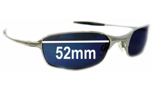 Sunglass Fix Sunglass Replacement Lenses for Oakley Square Wire 2.0 - 52mm Wide