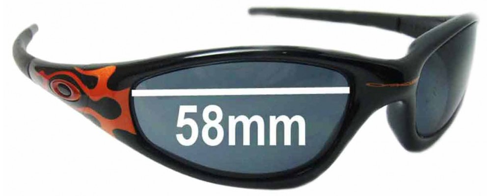 0263d857f5a Sunglass Fix Sunglass Replacement Lenses for Oakley Straight Jacket 58 mm  wide