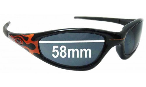 Sunglass Fix Sunglass Replacement Lenses for Oakley Straight Jacket 58 mm Wide