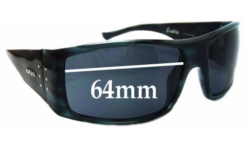 Sunglass Fix Sunglass Replacement Lenses for Otis Bubba - 64mm Wide