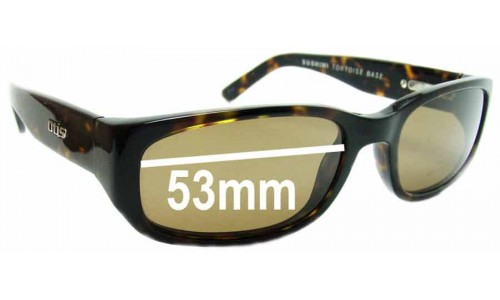 Sunglass Fix Sunglass Replacement Lenses for Otis Sushimi - 53mm Wide
