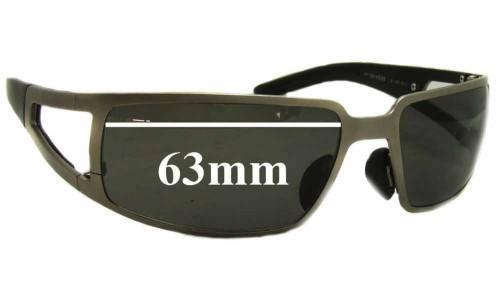 Sunglass Fix Sunglass Replacement Lenses for Porsche Design P 8458 - 63mm Wide