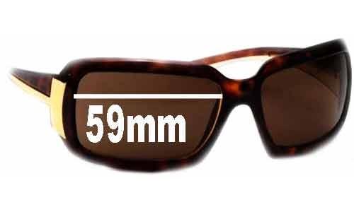 Sunglass Fix Sunglass Replacement Lenses for Prada PR 01HS - 59mm Wide