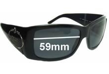 Sunglass Fix Sunglass Replacement Lenses for Prada SPR01I - 59mm Wide