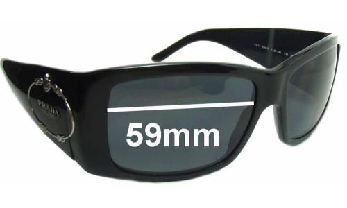 Sunglass Fix Sunglass Replacement Lenses for Prada SPR01I - 59mm wide lens