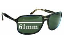 Sunglass Fix Sunglass Replacement Lenses for Prada SPR02N - 61mm Wide