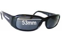 Sunglass Fix Sunglass Replacement Lenses for Prada SPR03E - 53mm Wide