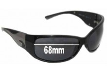 Sunglass Fix Sunglass Replacement Lenses for Prada SPR03G - 68mm Wide