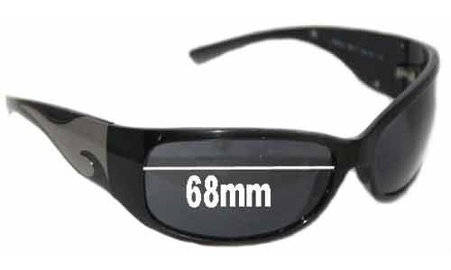 Sunglass Fix Sunglass Replacement Lenses for Prada SPR03G 1AB1A1 - 68mm lens