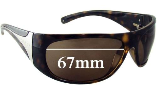 Sunglass Fix Sunglass Replacement Lenses for Prada SPR06I - 67mm Wide