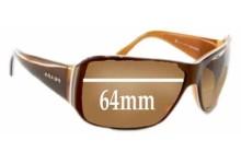 Sunglass Fix Sunglass Replacement Lenses for Prada SPR09G - 64mm Wide